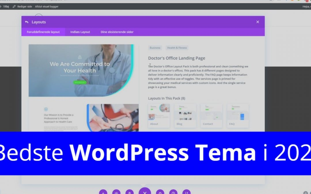 Opsætning af WordPress for Begyndere (Video Guide 2021)